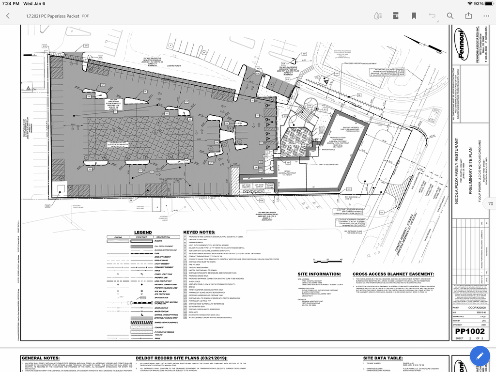 Nicola Pizza site plan