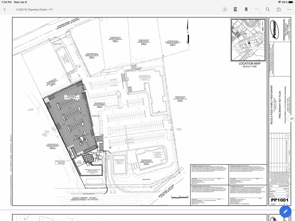 Nicola Pizza site plan in Lewes