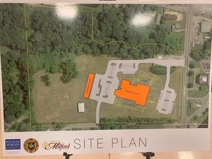 Site plan for new Milford Police Department building