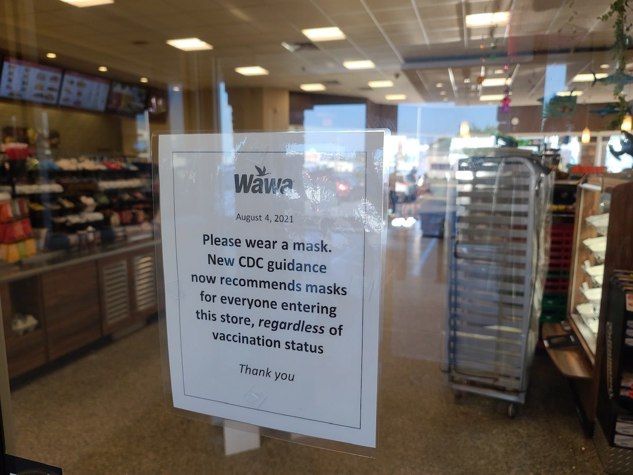 """Featured image for """"Wawa asks customers to mask up when entering stores"""""""