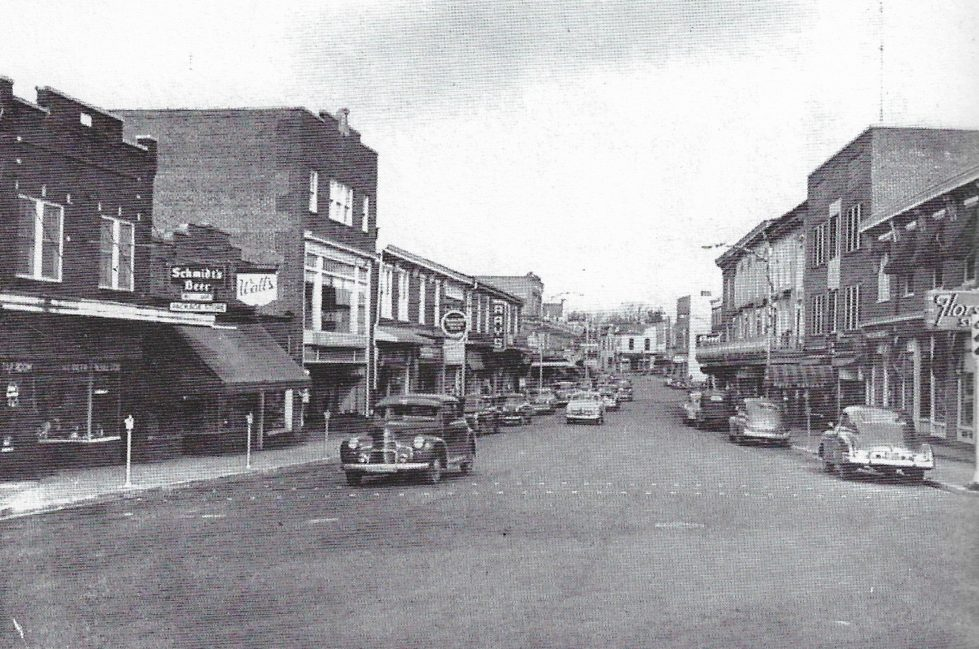 a vintage photo of an old building